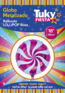 Lollipop Rosa 18″ Tuky Metalizado